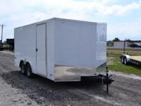 2014 Pace American Enclosed Trailer 8.5'x16' Tandem