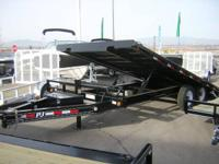 "NEW 2014 PJ HD TILT TRAILER, 22' X 120"" TENSION DEALT"