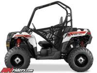 Brand new, never used, White Polaris Sportsman Ace ATV.