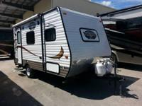 This Viking ultra lite travel trailer model 16FB by