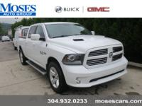Clean CARFAX. Bright White Clearcoat 2014 Ram 1500 4WD