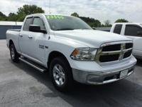 Clean CARFAX. Bright White Clearcoat 2014 Ram 1500 SLT