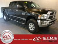 This 2014 Ram 2500 Big Horn Mega Cab Black Gold Pearl