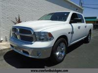 Clean CARFAX. White 2014 Ram 1500 RWD 8-Speed Automatic