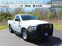 2014 RAM 1500 TRADESMAN IN BRIGHT WHITE CLEARCOAT!!