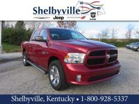CARFAX One-Owner. Red 2014 Ram 1500 Express 4WD 8-Speed