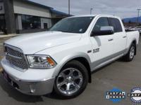 Options:  2014 Ram 1500 Laramie|White|10 Speakers|Am/Fm