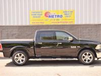 2014 Ram 1500 Laramie  in Black Clearcoat, ONE OWNER,