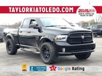 Extended Warranty Available**.  Black Clearcoat Ram