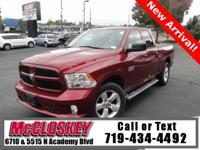 Low Miles 2014 Ram 1500 Quad Cab offering 4x4,