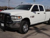 Bright White 2014 Ram 3500 Tradesman with a Cummins