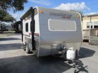 A lite weight 14' Travel Trailer only 2,507 lbs ready