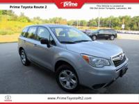 New Price! 2014 Subaru Forester 2.5i in Silver. 32/24