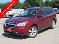New Price! Clean CARFAX. Venetian Red Pearl 2014 Subaru