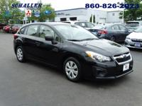 Subaru Certified. 5 speed! Black Beauty!Imagine