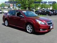 ONE OWNER and CLEAN CARFAX. Legacy 2.5i, 4D Sedan, CVT