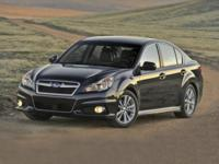 2014 Subaru Legacy 2.5i. Hold on to your seats! Call