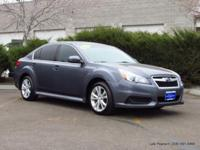 2014 Legacy AWD sedan in slate blue with charcoal