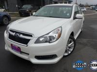 Options:  2014 Subaru Legacy 2.5I|White|Wheels: 17 X