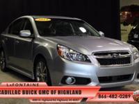 2014 Subaru Legacy 2.5i in Ice Silver Metallic, One