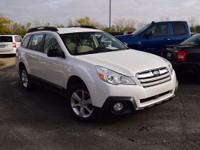White 2014 Subaru Outback 2.5i AWD 6-Speed 2.5L