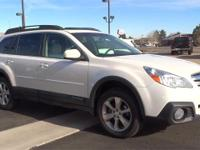 White 2014 Subaru Outback 2.5i Limited AWD CVT