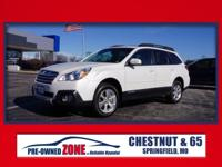 2014 Subaru Outback 3.6R in Satin White Pearl with Warm