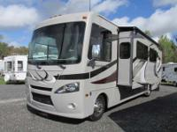 A 34' Class A with two slide-outs, Satellite Radio and