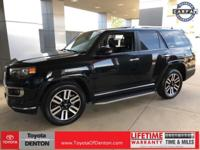 Clean CARFAX. Black 2014 Toyota 4Runner Limited RWD