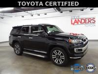 Toyota Certified. Limited, Alloy wheels, Auto-Dimming