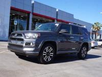 4WD, Black w/Leather Seat Trim, 4 RUNNER LIMITED, and