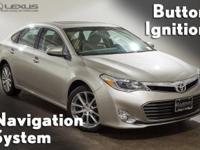 2014 Toyota Avalon and K-Certified (2 years/100,000