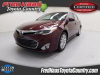 CARFAX One-Owner. Clean CARFAX. Red 2014 Toyota Avalon