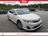 New Price! Certified. 2014 Toyota Camry L in White.