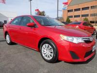 Barcelona Red Metallic 2014 Toyota Camry L FWD 6-Speed