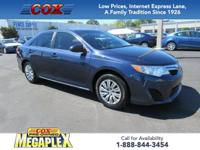 1 OWNER! This 2014 Toyota Camry LE in Parisian Night