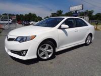 *One Owner*. Camry LE, 4D Sedan, Super White, Black