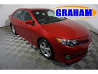 Clean CARFAX. Red 2014 Toyota Camry LE FWD 6-Speed