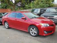 Options:  2014 Toyota Camry Se|Red|Black/Ash 2-Tone.