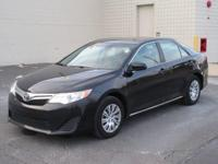 You are looking at a Black 2014 Toyota Camry LE. This