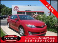 2014 Toyota Camry Certified. CARFAX One-Owner. Odometer