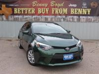 (512) 948-3430 ext.1636 This 2014 Corolla is priced in