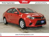 CARFAX One-Owner. 2014 Toyota Corolla LE in Barcelona