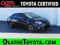 Options:  2014 Toyota Corolla S Plus Nav/Sr|Black/|V4