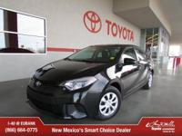 Options:  2014 Toyota Corolla L|L 4Dr Sedan 4A|Thank