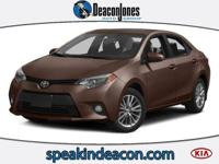 LE trim. REDUCED FROM $13,995!, FUEL EFFICIENT 38 MPG