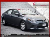 Options:  2014 Toyota Corolla L Gray Toyota Certified