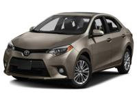 Options:  2014 Toyota Corolla |Miles: 51011Stock