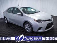 Extra clean 2014 Toyota Corolla L. Keyless Entry,