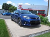 ONE OWNER!! 2014 TOYOTA COROLLA S PLUS!! TOYOTA